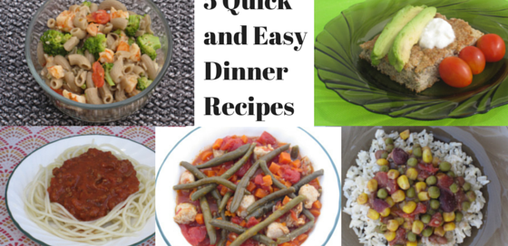 Quick and easy dinner recipes you can make for your family this week.