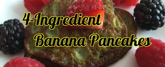 Banana pancakes - easy and delicious.