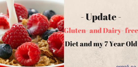 Update on my son's gluten and dairy free diet