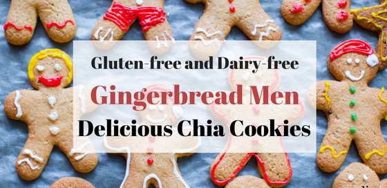 Gingerbread men cookies with chia seeds