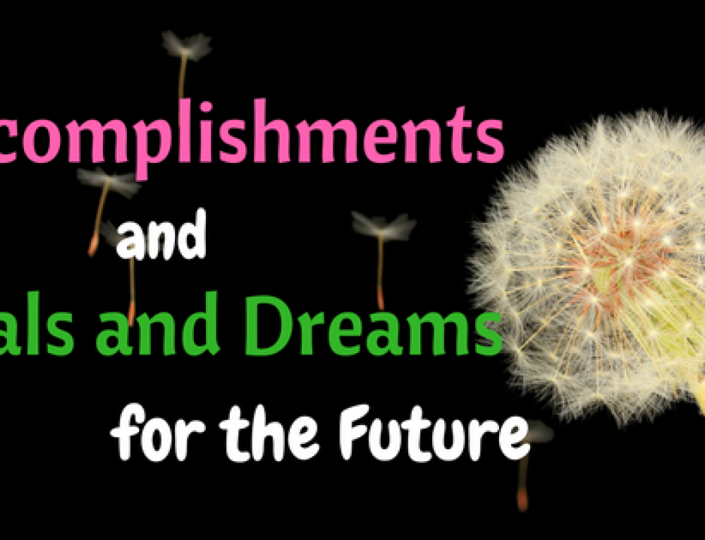 2016 Accomplishments and 2017 Dreams and Plans for the Future