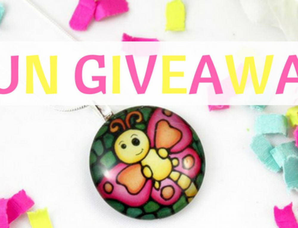 Fun Giveaway! Lovely Glass Pendant for Girls